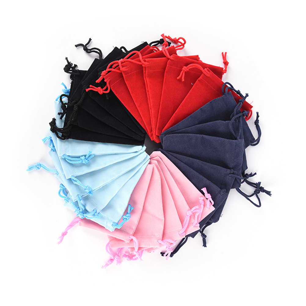 10pcs/lot 7*9cm Drawstring Bags Velvet Bag Fashion Drawstring Pouch Packing Bags Wholesale