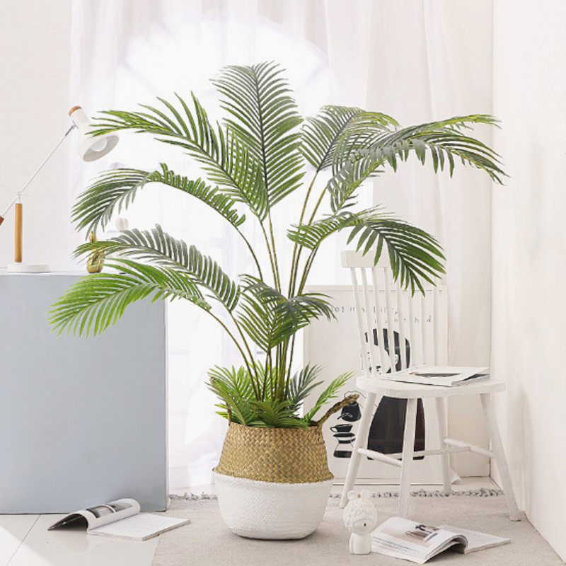 60-123CM Artificial  Palm  Tree Fake Plants Plastic Leaf Fake Tree For Home Wedding  Garden  Floor  Living Room  Decorations