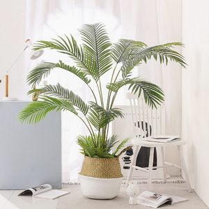 60-88CM Artificial Palm Tree Fake Plants Plastic Leaf Fake Tree For Home Wedding Garden Floor Living Room Decorations