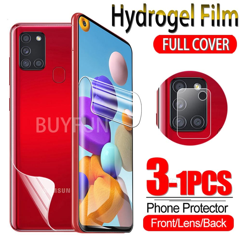 Гидрогелевая пленка 1-3 шт. для Samsung Galaxy A21 A21S A11, Защитная пленка для экрана Sumsung A 21 21S 11, защитная пленка из гидрогеля, стекло для камеры