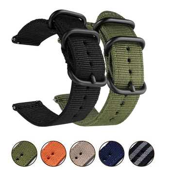 22mm Canvas Nylon Watchband for Huawei Watch GT Honor Magic Watch 2 46mm Band Wrist Strap Metal Bracelet Belt For TicWatch Pro metal wrist strap for huawei watch gt 2 46mm 42mm gt active band bracelet for honor magic replaceable accessories watchbands