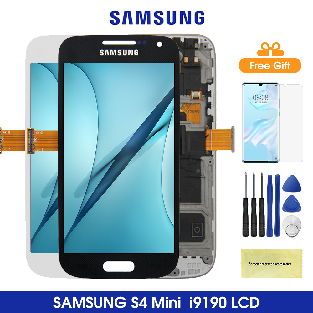 S4 Mini Lcds For SAMSUNG Galaxy S4 Mini Lcd Display Touch Screen Digitizer Assesmbly For Samsung GT I9190 i9192 i9195 Lcds image