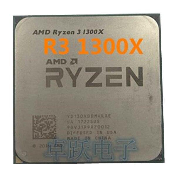 AMD Ryzen 3 1300X R3 1300X 3.5 GHz رباعية النواة معالج وحدة المعالجة المركزية المقبس AM4