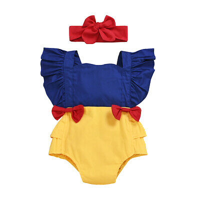 0-24M Princess Newborn Baby Girls Romper Bow Ruffles Jumpsuit Sunsuit Birthday Party Baby Girls Clothes Costumes