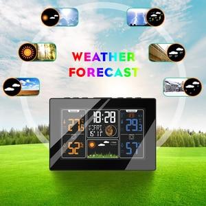 Беспроводная цифровая автоматическая радиоуправляемая станция прогноза погоды PROTMEX PT201C с гигрометром и термометром
