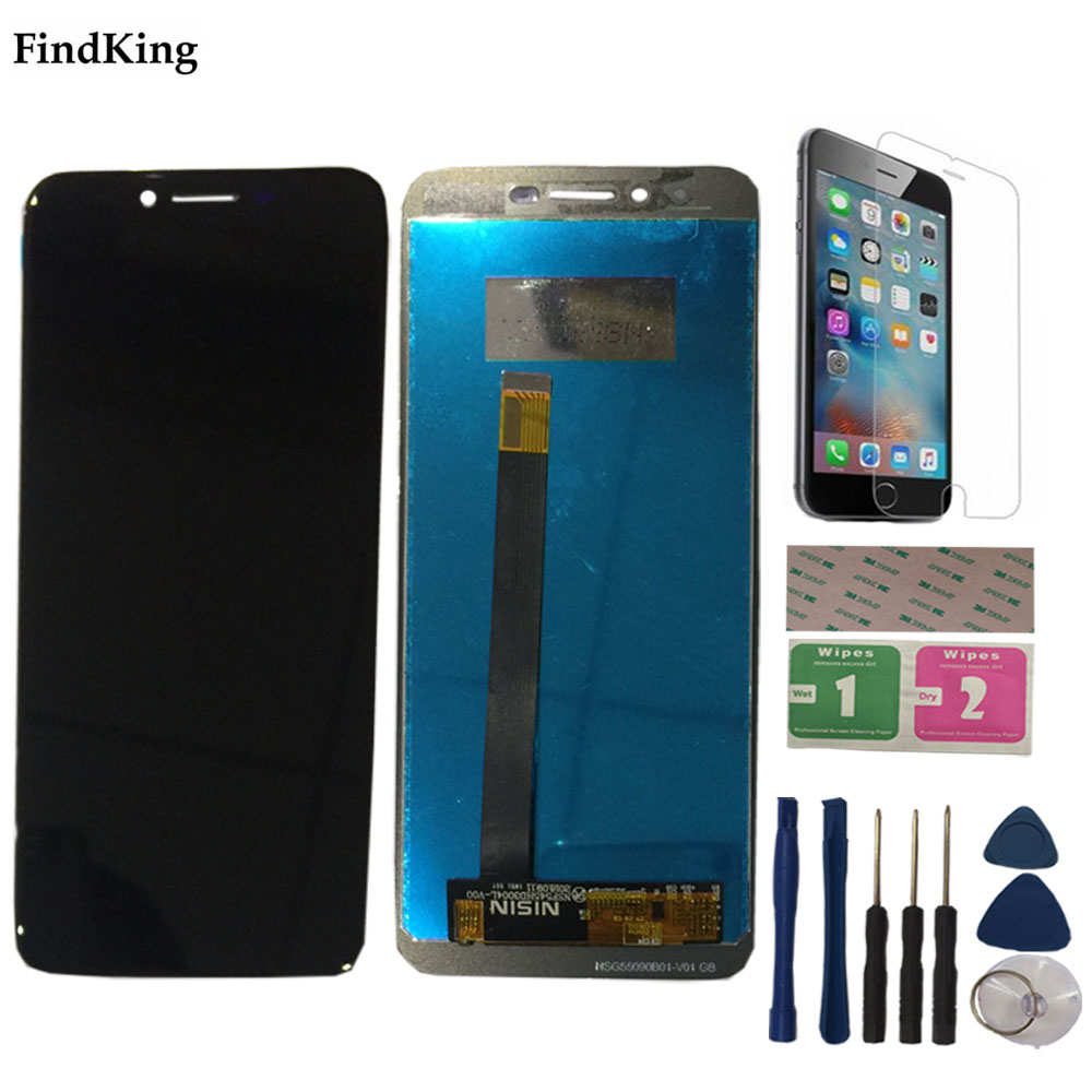 100% Tested LCD Display For Homtom S99 LCD Display Touch Screen Digitizer Assembly Accessory Sensor Tools(China)