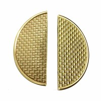 COTOM 1 Pair 20cm Gold Solid Brass Handle Cabinet Decorative Handles Furniture Door Knob Round Handle Pull Home Improvement