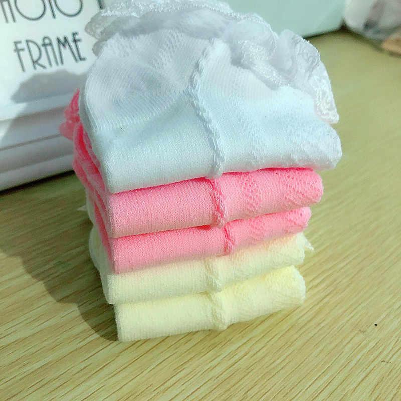 Algodón transpirable encaje volantes princesa malla Calcetines niños tobillo corto calcetín blanco rosa amarillo bebé chicas chicos niños