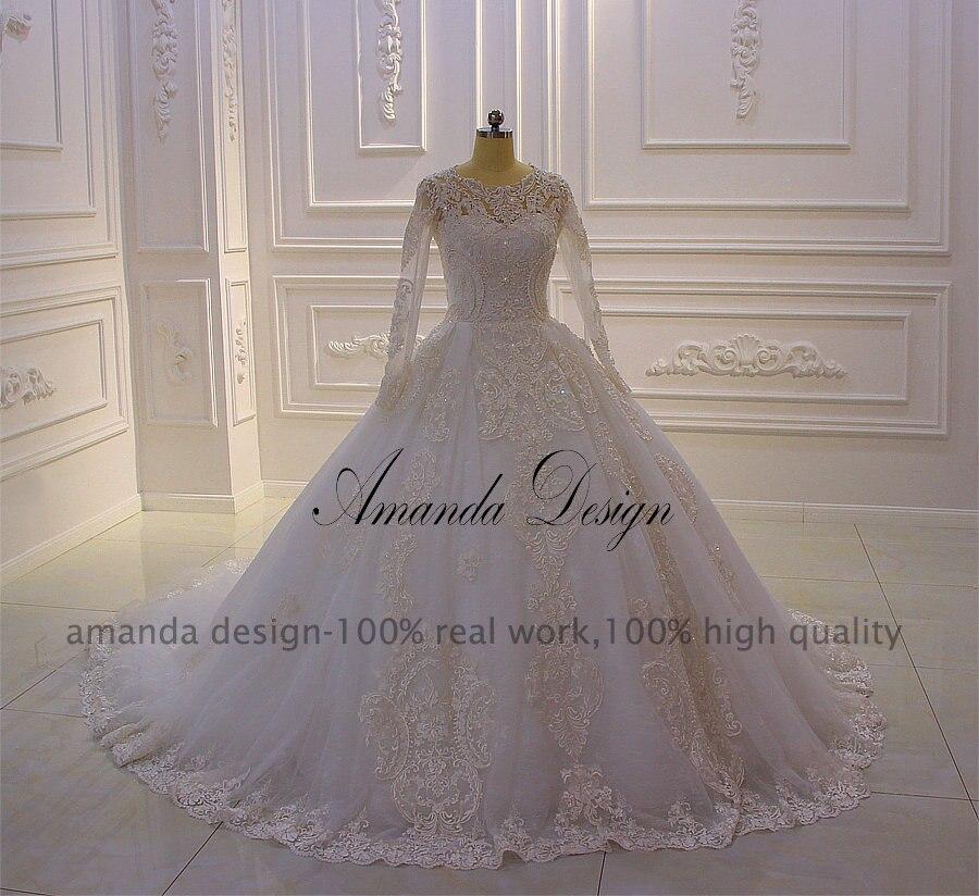 Abiti Da Cerimonia Wedding.Amanda Design Abiti Da Cerimonia Da Sera Long Sleeve Lace