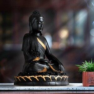 Image 5 - Harz Statuette bouddha große Buddha decor home decor Buddha statue hause dekoration zubehör für wohnzimmer Buddha figur