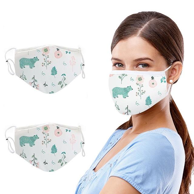 Sponge Mouth Mask Washable Dustproof Reusable Anti-pollen Face Mask Adult Kid for Adult Cottom Mask Mouth Black 5