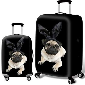Pokrowiec na bagaż torba podróżna grubszy pokrowiec na bagaż miejski pokrowiec ochronny na walizkę do walizki bagażowej zastosuj do walizki 18 #8221 -32 #8221 tanie i dobre opinie Poliester Akcesoria podróżnicze 20cm 0 4kg Klapy Bagażnika 18cm polyester Animal prints