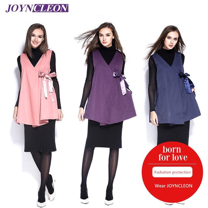 JOYNCLEON Electromagnetic Radiation Protective Retro Chinese Style Maternity Clothes EMF Shielding Metal Fiber Dress
