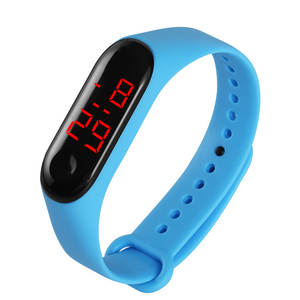 Digital Watches Clock Bracelet LED Girls Boys Kids Children Women Electronic for PU