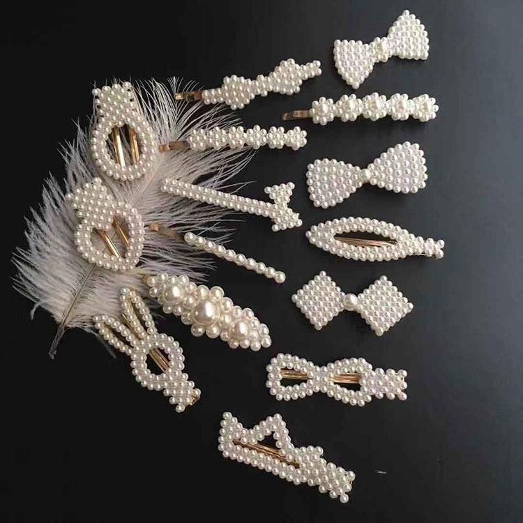 Fashion Sweet Pearls Hairpins Girls Headwear Elegant Hair Clips Hair Headband Ins Hair Accessorie Ornament Barrettes Baby #0111