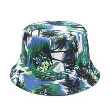 Chapeaux seau d'été pour femmes et hommes, casquette de pêche réversible, imprimé cocotier, Bob Gorro
