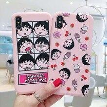 Cartoon Sakura Momoko Pink Phone Case Cute Soft Cover For iPhone 6 6s 7 8 Plus X XS XR XSMax