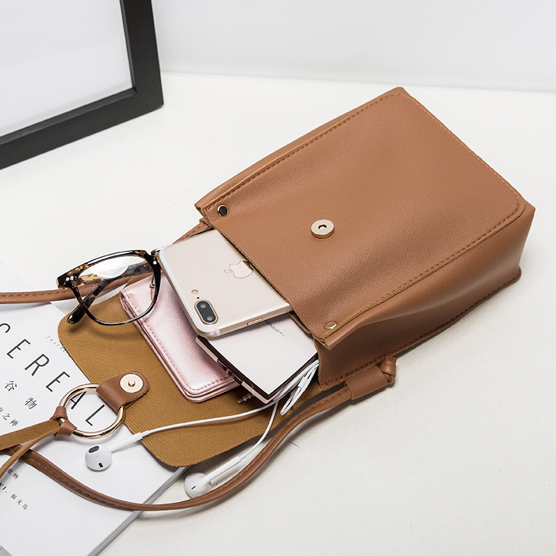 2020 Summer Korean Style New Women's Bag Round Buckle Decorative Casual Square Sling Bag Shoulder/Crossbody Bag Phone Bag