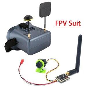 Image 1 - FPVชุดLS 008D 5.8G FPV Goggles VRแว่นตาคุณภาพสูง40CHพร้อม2000mAแบตเตอรี่เครื่องส่งสัญญาณ600Mw + CMOS 1000TVLกล้อง