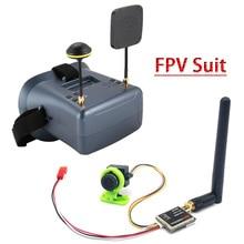 FPV חליפת LS 008D 5.8G FPV גוגל VR משקפיים באיכות גבוהה 40CH עם 2000mA סוללה עם 600mw משדר + CMOS 1000TVL מצלמה