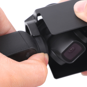 Image 5 - Lens kapağı koruyucu kapak güneş Hood güneşlik koruyucu güvenlik parlama kalkanı kasa el Gimbal aksesuarları DJI Osmo cep