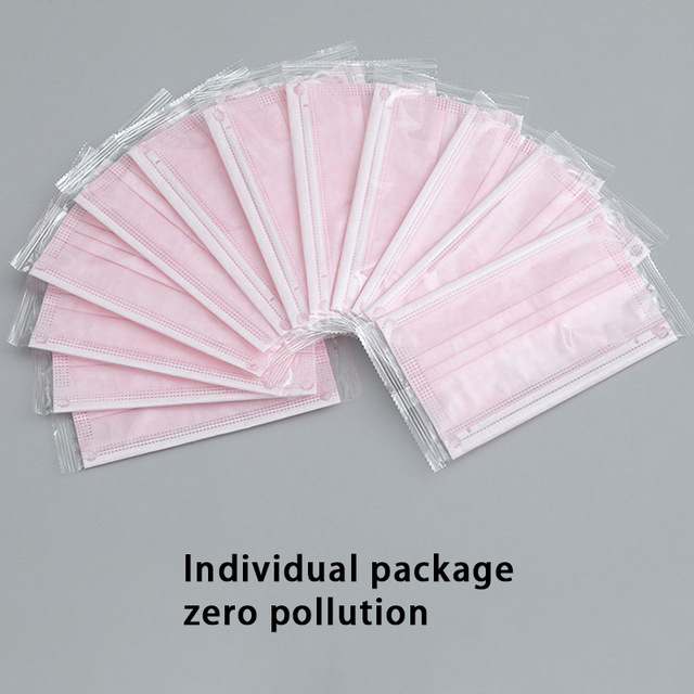High Quality Face Mask Disposable Facemask 3 Layers 3 Plys Mouth Face Masks Personal Mask 50pcs with Box Individual Package 5