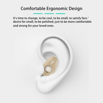 Mini Invisible Ture Wireless Earphone Noise Cancelling Bluetooth Headphone Handsfree Stereo Headset TWS Earbud With Microphone 2