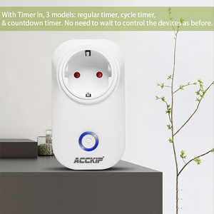 Image 3 - ACCKIP Europe Plug WiFi Smart Socket Voice Control Time Setting Tuya Smart Life App Smart Plug 16A Power Meter Energy Saving