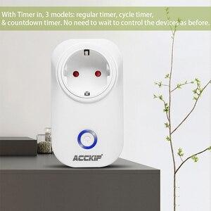 Image 3 - ACCKIP Europe Plug inteligentne gniazdo WiFi sterowanie głosem ustawienie czasu Tuya inteligentne życie App inteligentna wtyczka 16A miernik energii oszczędzanie energii