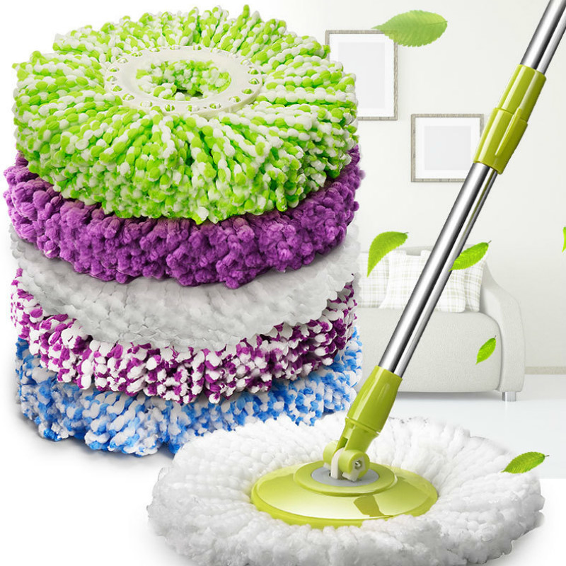 Self-Conscious 5pcs Mop Head Rotating Cotton Pads Replacement Cloth Spin For Wash Floor Round Squeeze Rag Cleaning Tools Household Microfiber