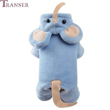 Transer Olifant Hond Kostuum Blauw Warm Fleece Pet Dog Jumpsuit Romper Trainingspak Puppy Kat Cosplay Kleding Hond Jas 910(China)