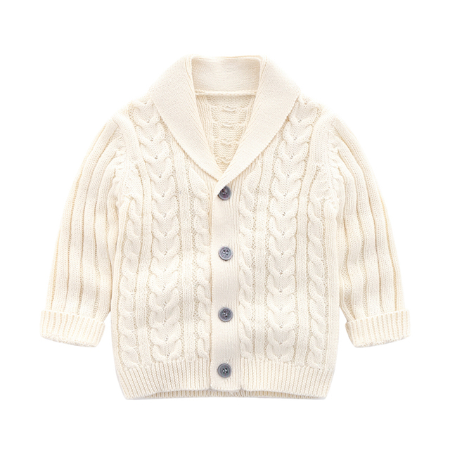 lioraitiin 0-3Years Autumn Winter Children Cardigan Coat Boy Girls Knitted Sweaters Cotton Baby Single-Breasted Jacket 6