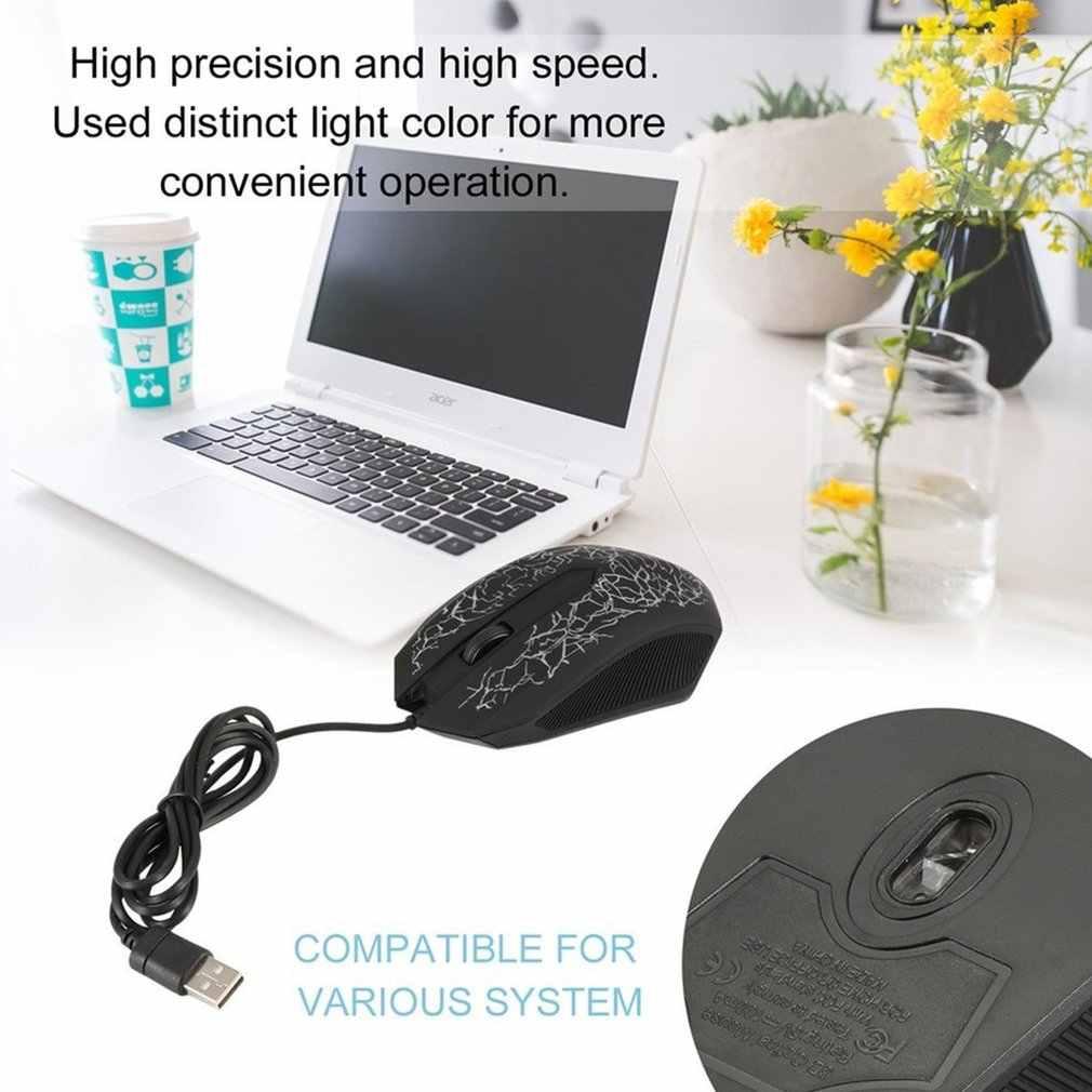 3200 Dpi LED Optik 3 Tombol 3D USB Wired Gaming Game Mouse Pro Gamer Komputer untuk PC Adjustable USB mouse Gaming Kabel