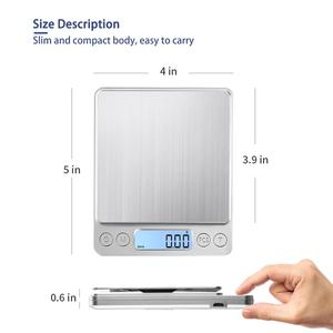 Image 4 - KUBEI נטענת דיגיטלי מטבח בקנה מידה, 3kg 0.1g/1kg 0.01g מזון בקנה מידה תכשיטים בקנה מידה עם מגש תכליתי בישול בקנה מידה