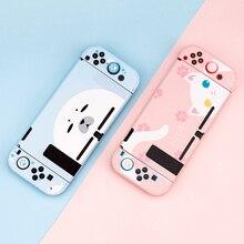 جراب واقٍ بتصميم قطة لجهاز Nintendo Switch ، جراب واقٍ صلب لوحدة التحكم JoyCon ، وردي لطيف ، ملحقات NS Lite