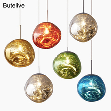 Pendant Lamps Chandelier Kitchen Personality Led-Lights Lava-Ball Glass Bedroom Nordic