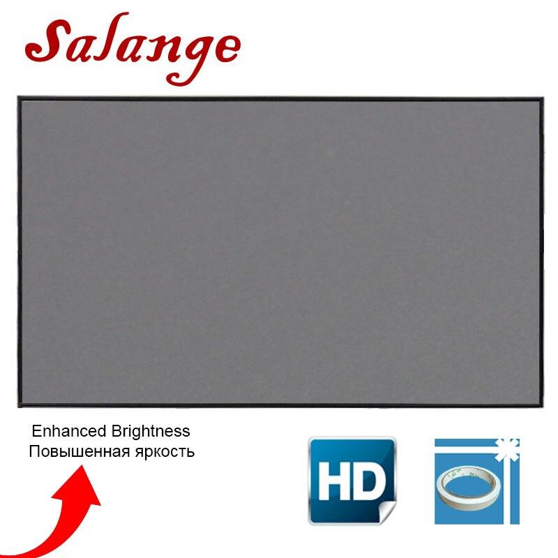 Salange projektör ekranı 100 120 inç ekran projeksiyon taşınabilir yansıtıcı kumaş bez XGIMI H3 H2 YG400 Xiaomi Beamer