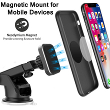 XMXCZKJ New Rectangle Head Dashboard Mount Universal Magnetic Car Holder Windshield and for Cell Phones Tablets with Long Adjustable Arm Iphone 11 HuaWei