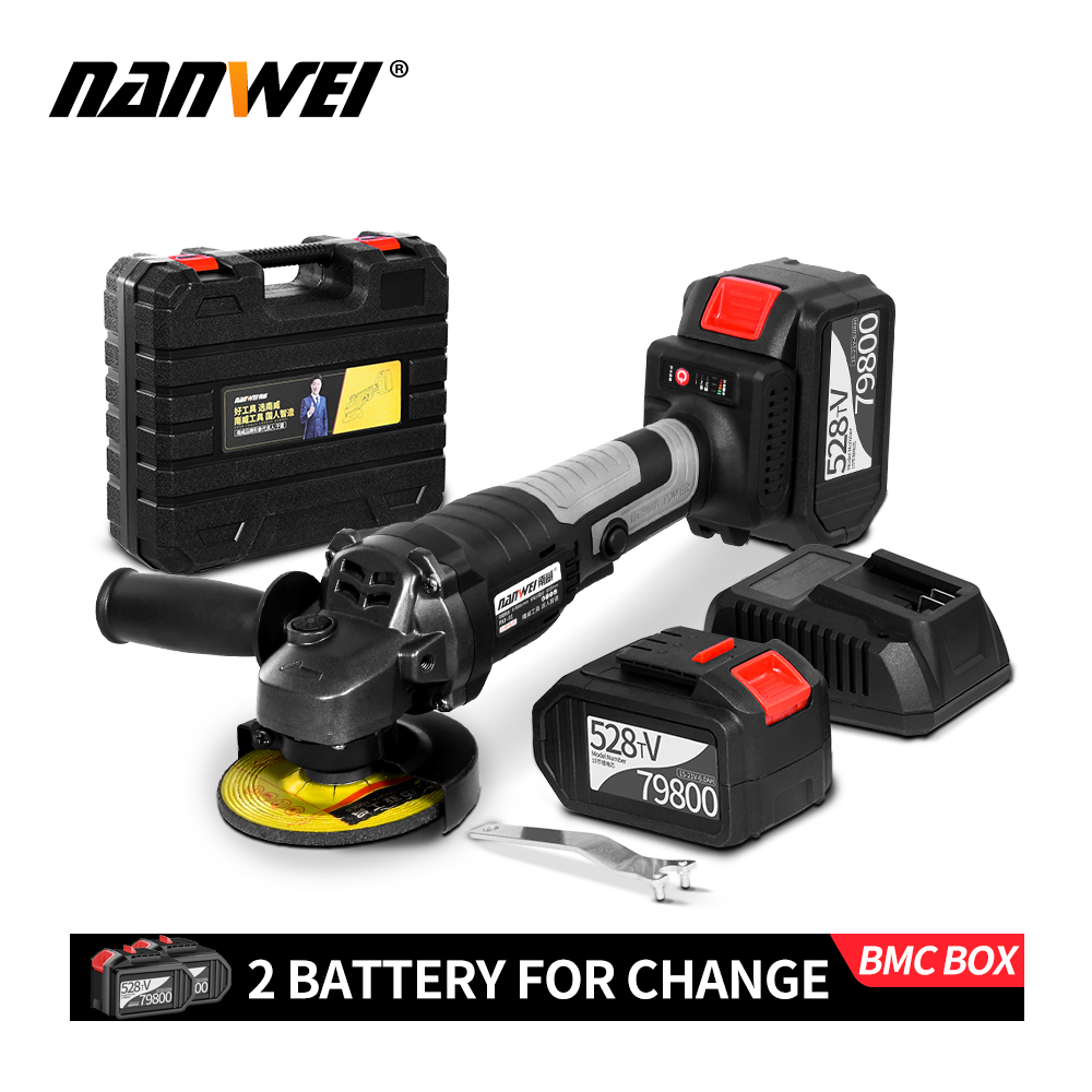 NEW 21V Lithium Cordless Brushless Angle Grinder