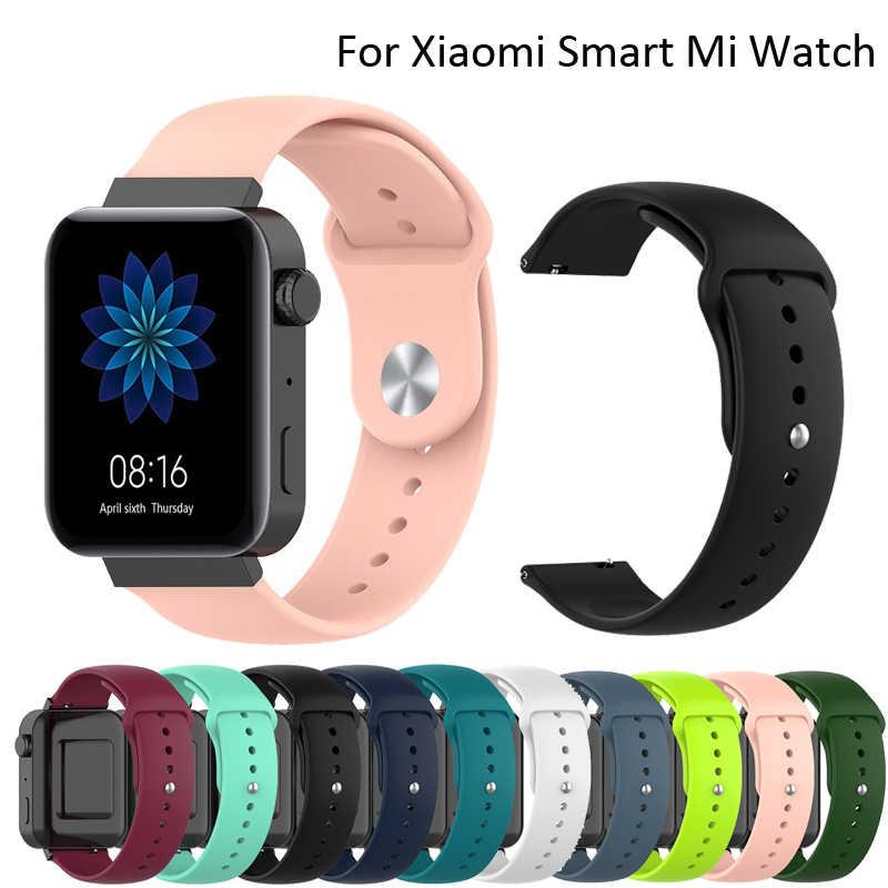 Pasek sportowy dla Xiao mi mi smartwatch gps NFC WIFI ESIM bransoletka telefoniczna kobiety pasek do zegarka mi opaska monitorująca aktywność fizyczną Watchband
