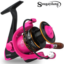 Sougayilang moulinet Spinning avec bobine en métal, pour Rock Fishing, en bateau, 5.0:1, 1000 à 3000, 12BB