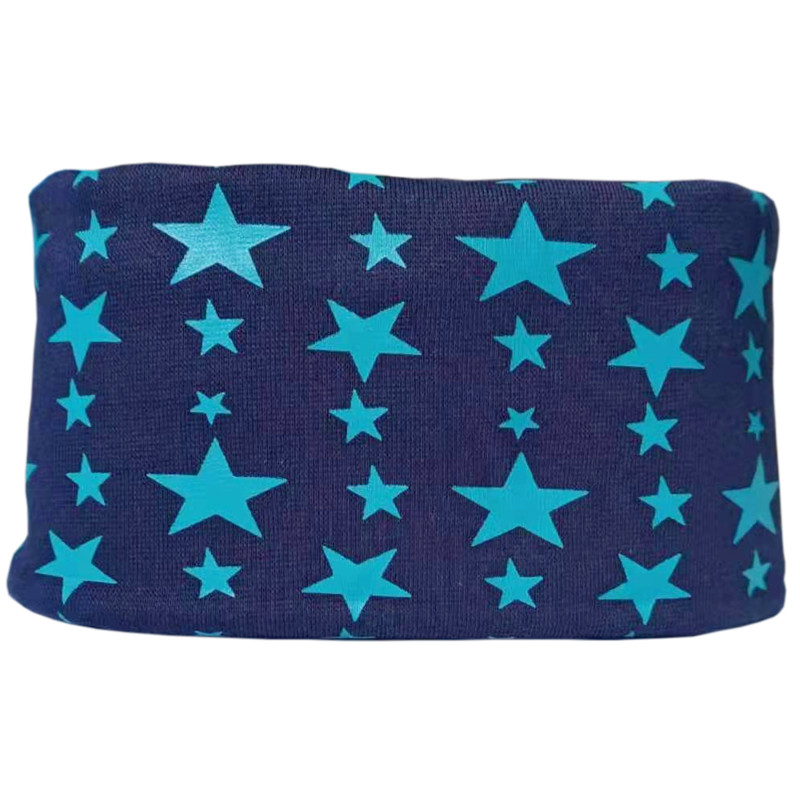navy star baby scarf