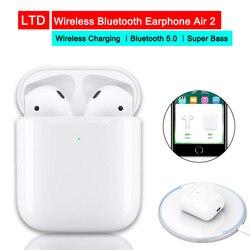 Fones de ouvido para android iphon 1:1 airpods 2 carregamento sem fio gps localização nome mudou popup fones de ouvido cabeça controle toque earbud