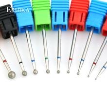 ERUIKA 11 размер шаровая Алмазная дрель для ногтей вращающийся Фрезерный резак для кутикулы чистые электрические сверла для маникюра заусенцы аксессуары для дизайна ногтей