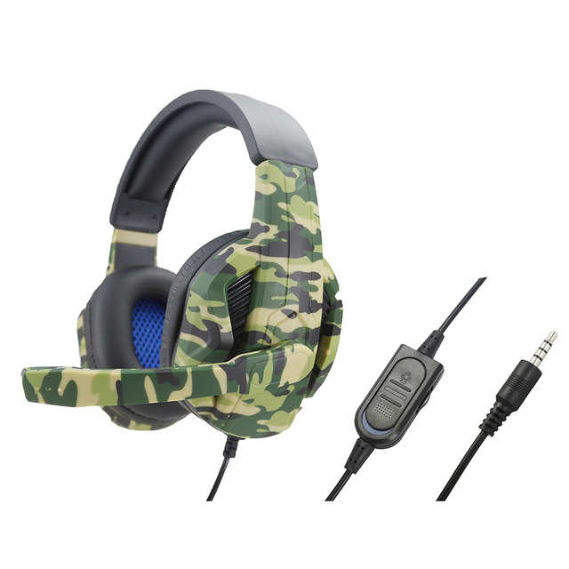 P4-890 Stereo Camo 3 5mm Wired Gaming Headset Headphones with Mic for PS4 NS 360