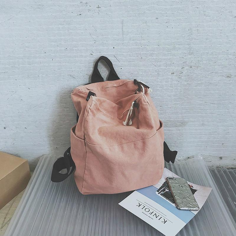 1249.21руб. 47% СКИДКА|CASMOR 2019, женский рюкзак, большая вместительность, для девочек, Harajuku, сумка для подростков, Брезентовая, повседневная, одноцветная, школьная сумка, рюкзак для путешествий, женский-in Рюкзаки from Багаж и сумки on AliExpress - 11.11_Double 11_Singles