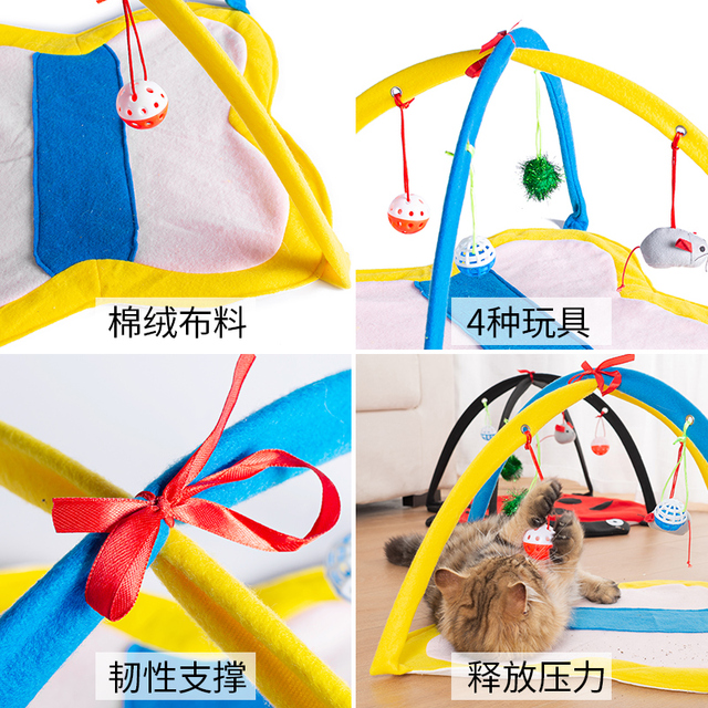 Foldable Cat Tent House Dogs Kitten Blanket Bed Cats Toy Bed Pad Pet Breathable Indoor Tents Small Medium Kennel Sleeping Beds  My Pet World Store