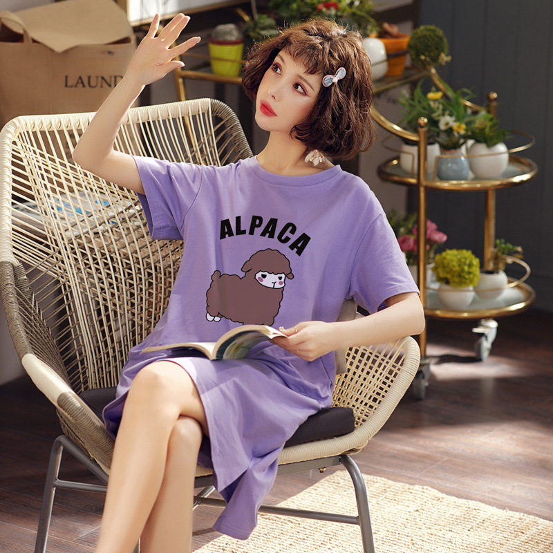 Pure Cotton Confinement Clothing Japanese Korean Maternity Clothes Time Of Childbirth Skirt T-shirt Nursing Clothes Nightgown Wo