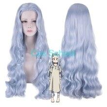 Pelucas de Cosplay de My Hero Academia Eri, pelucas de disfraces de Boku no Hero Academia Eri, cabello rizado largo de color gris azul para Halloween
