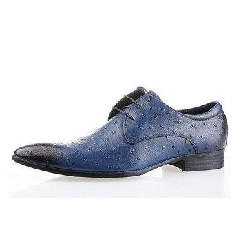 Pointed Toe Men's Business Dress Shoes Men Fashion Elegant Formal Flats Gentleman Wedding Shoes Comfortable Office Shoe B35